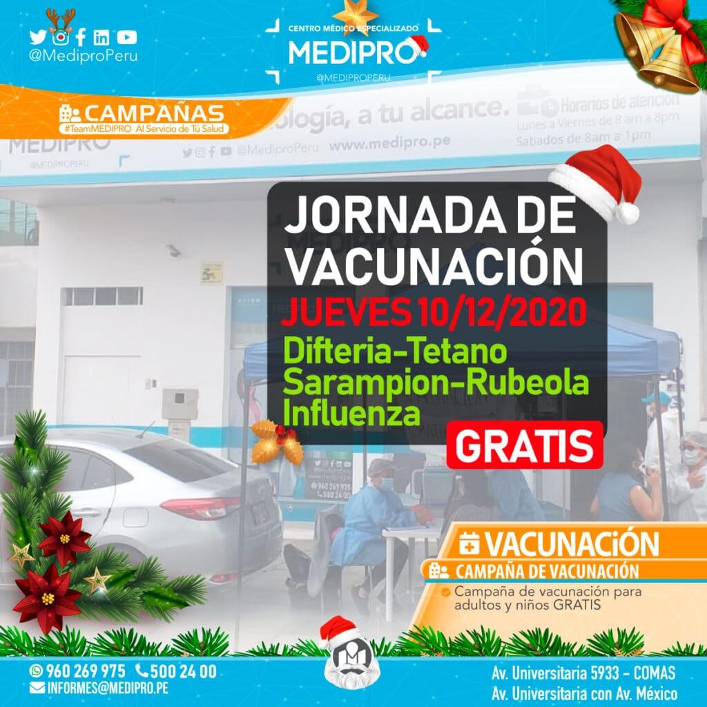 Jornada de Vacunación 10/12/2020