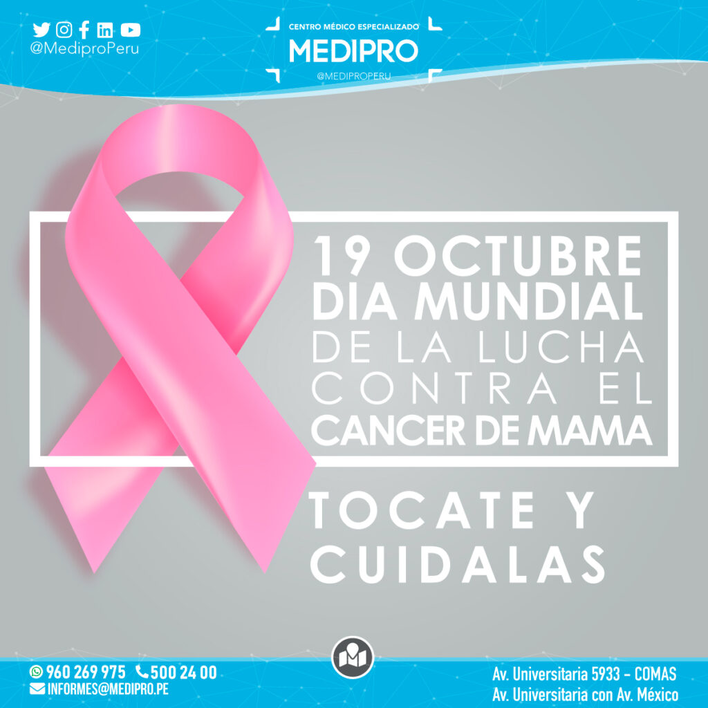 19 Octubre Dia mundial de la lucha contra el cáncer de mama