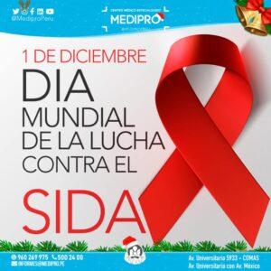 1 Diciembre, Dia mundial de la Lucha contra el SIDA.