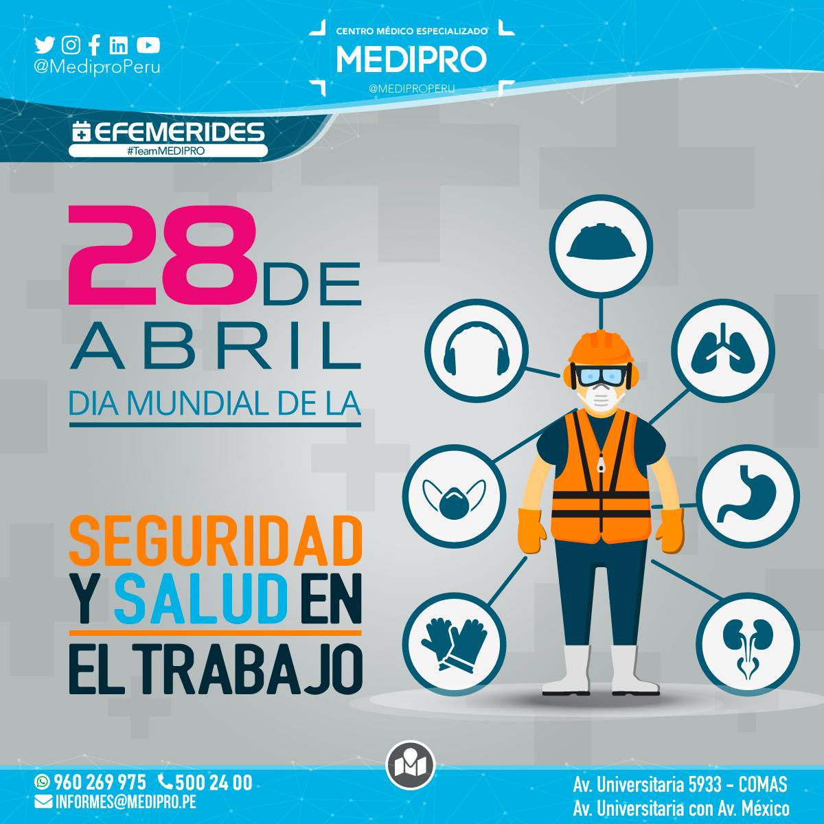 28 de Abril El Día Mundial de la Seguridad y la Salud en el Trabajo