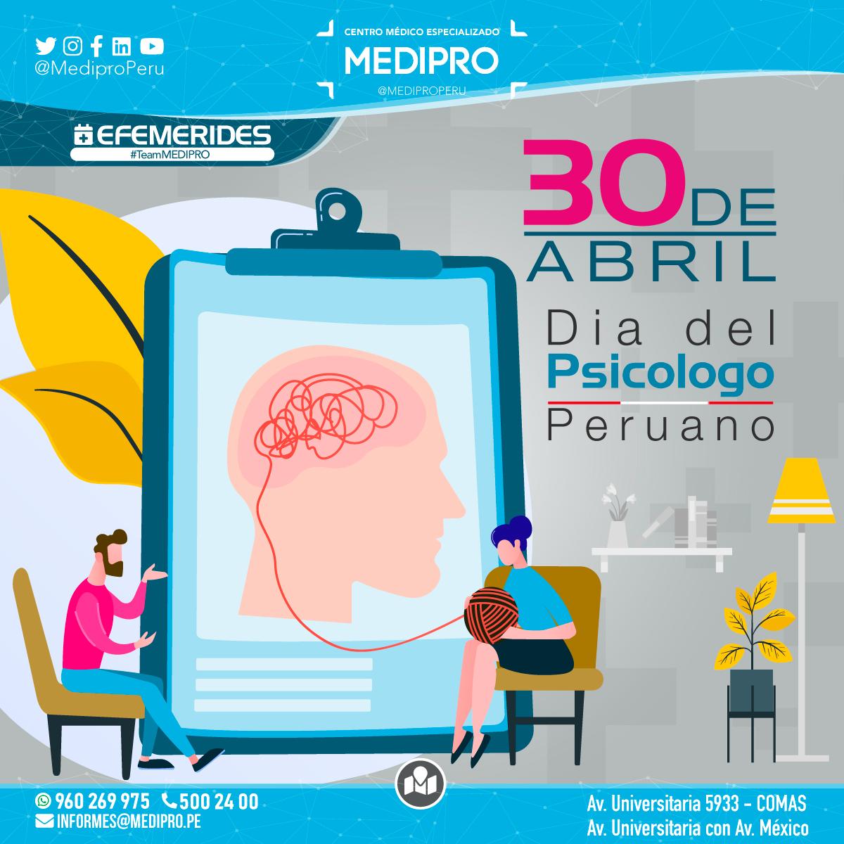 30 de Abril Dia del Psicólogo Peruano